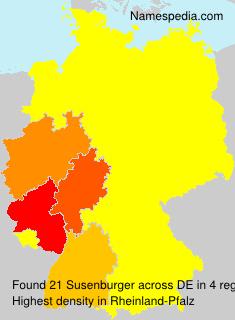 Surname Susenburger in Germany