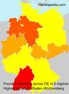Surname Swetlana in Germany