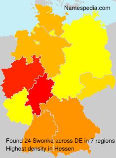 Familiennamen Swonke - Germany