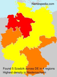 Familiennamen Szadzik - Germany