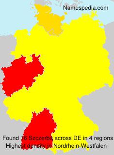 Surname Szczerba in Germany