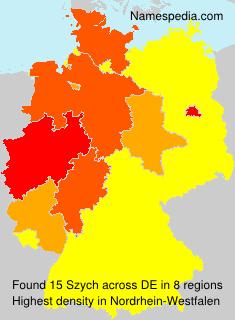 Surname Szych in Germany