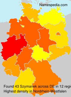 Surname Szymanek in Germany