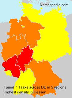 Familiennamen Taaks - Germany