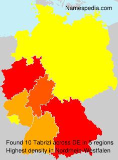 Familiennamen Tabrizi - Germany