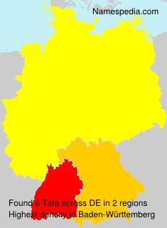 Surname Tafa in Germany