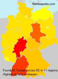 Surname Tampe in Germany