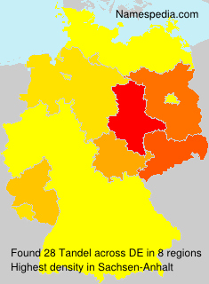 Surname Tandel in Germany