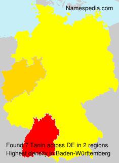 Familiennamen Tanin - Germany
