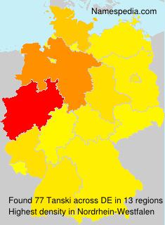 Familiennamen Tanski - Germany