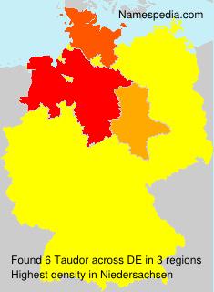 Surname Taudor in Germany