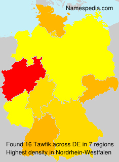 Surname Tawfik in Germany