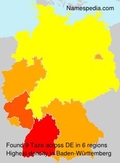 Surname Taze in Germany