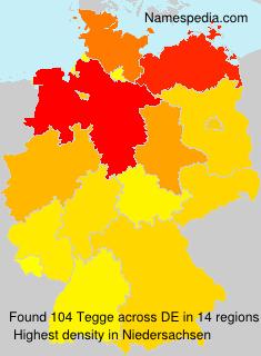 Surname Tegge in Germany
