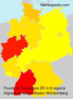Surname Tek in Germany