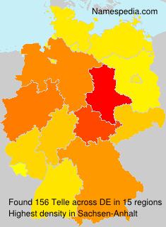 Surname Telle in Germany