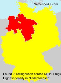 Surname Tellinghusen in Germany