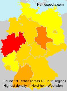 Surname Terber in Germany