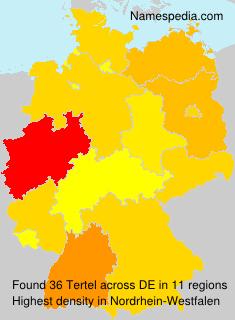Surname Tertel in Germany