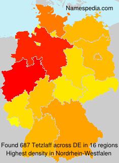 Surname Tetzlaff in Germany