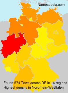 Surname Tews in Germany