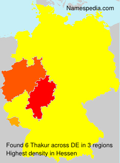 Familiennamen Thakur - Germany