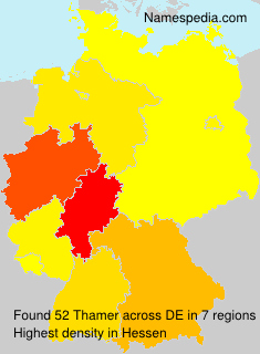 Familiennamen Thamer - Germany