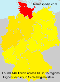 Surname Thede in Germany