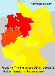 Surname Theiling in Germany