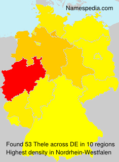 Surname Thele in Germany