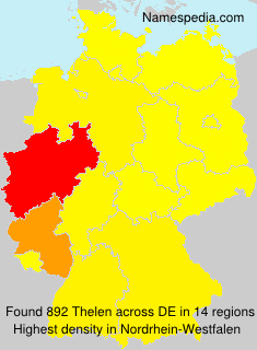 Surname Thelen in Germany
