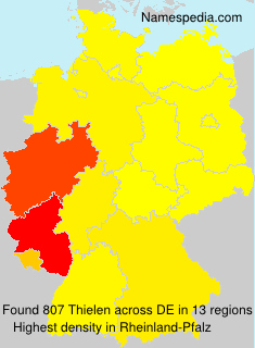 Surname Thielen in Germany
