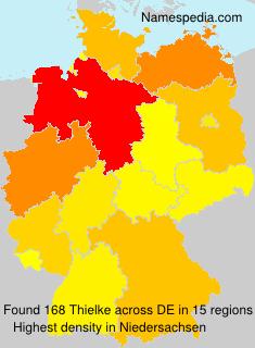Surname Thielke in Germany