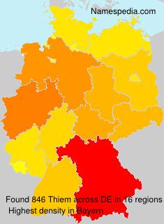Surname Thiem in Germany