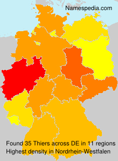 Surname Thiers in Germany