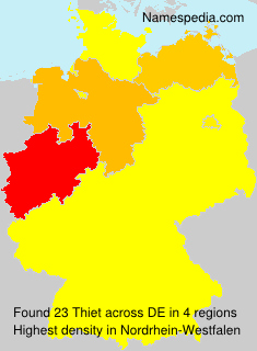 Surname Thiet in Germany