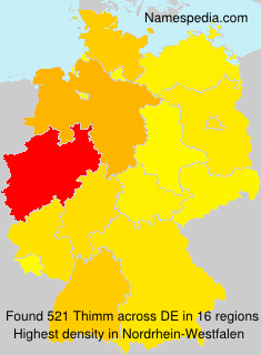 Surname Thimm in Germany