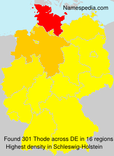 Surname Thode in Germany