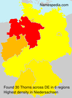 Surname Thorns in Germany
