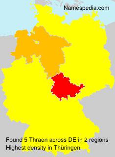 Surname Thraen in Germany