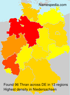 Surname Thran in Germany