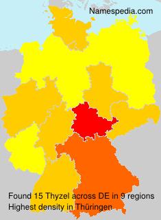 Familiennamen Thyzel - Germany