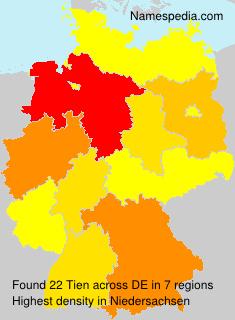 Familiennamen Tien - Germany