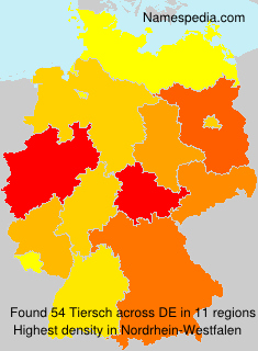 Surname Tiersch in Germany