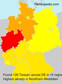 Familiennamen Tiessen - Germany