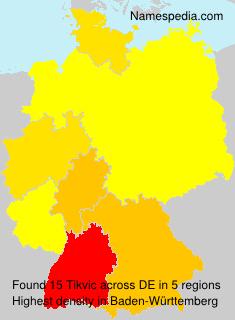 Familiennamen Tikvic - Germany