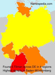 Surname Tilman in Germany