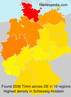 Surname Timm in Germany
