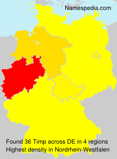 Surname Timp in Germany
