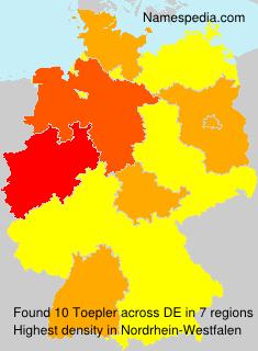 Familiennamen Toepler - Germany